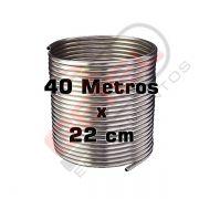 Serpentina Chopeira Cerveja Artesanal - Aluminio - 40 Metros x 22 cm