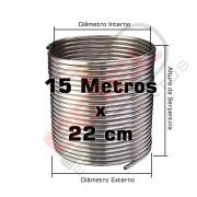 Serpentina Chopeira Cerveja Artesanal - Inox 304 - 15 Metros x 22cm
