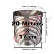 Serpentina Chopeira Cerveja Artesanal - Inox 304 - 20 Metros x 17cm