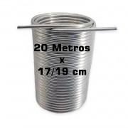 """Serpentina Dupla - Alumínio 3/8"""" - 20 Metros x 17/19 cm"""