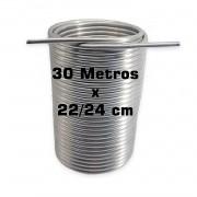 """Serpentina Dupla - Alumínio 3/8"""" - 30 Metros x 22/24 cm"""
