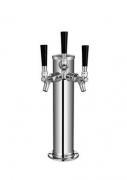 Torre de Cerveja tipo Coluna Prateada - 3 Vias - Torneira Americana