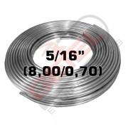 """Tubo Aço Inox 304 - 5/16"""" (8,00 X 0,70) - por metro"""