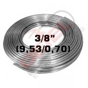 "Tubo Aluminio - 3/8"" (9,53 X 0,80) - por metro"