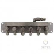 Válvula tipo Agulha (Ajuste Fino) - 06 Saídas c/ suporte - Chope (Reman)
