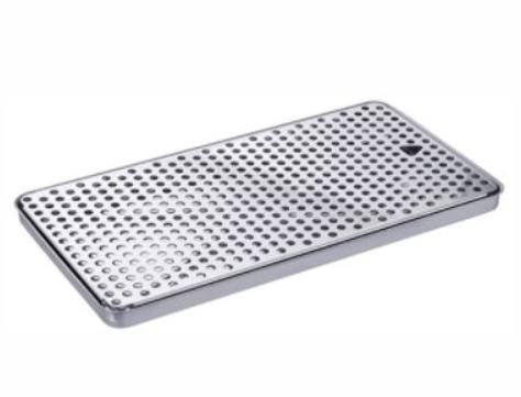 Bandeja Pingadeira - Aço Inox Polido - (40 x 21 x 02 cm )