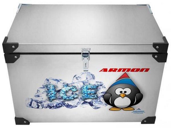 Caixa Térmica Armon 140 Litros - Inox Interno e Externo