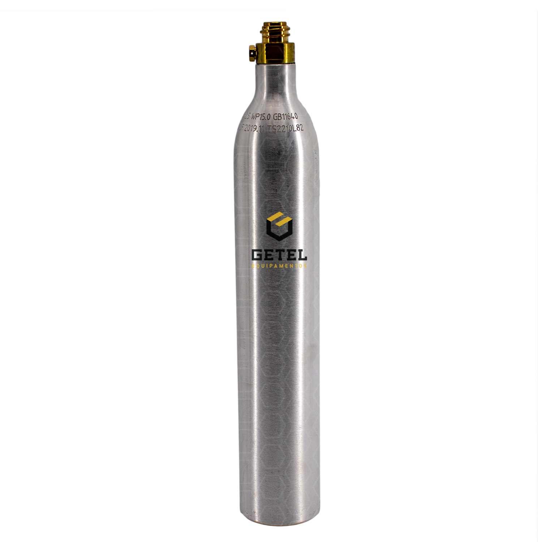Cilindro de Gás Carbônico CO2 - Alumínio - 0,4 Kg p/ SodaStream - Recarregável