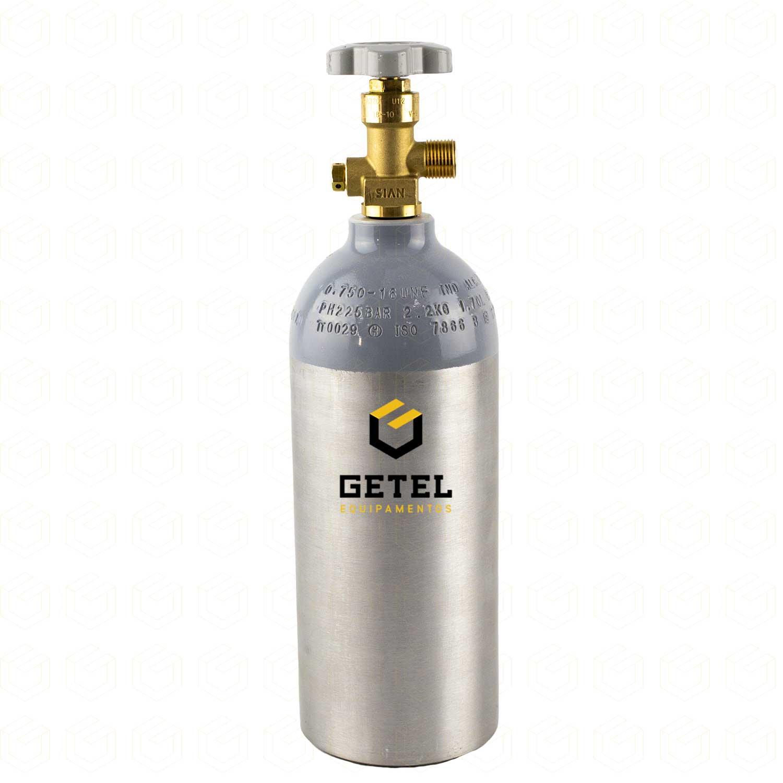 Cilindro de Gás Carbônico CO2 - Aluminio - 1,1 Kg- Alcan