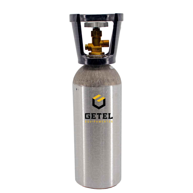 Cilindro de Gás Carbônico CO2 - Aluminio - 2,3 KG - C/ Capacete