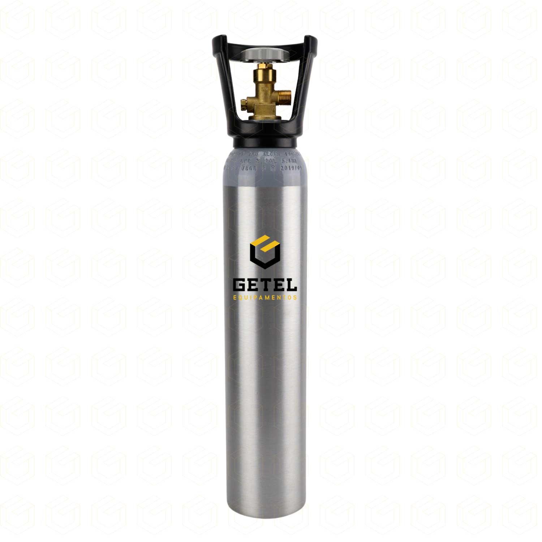 Cilindro de Gás Carbônico CO2 - Aluminio - 2,3 KG - C/ Capacete - Alcan