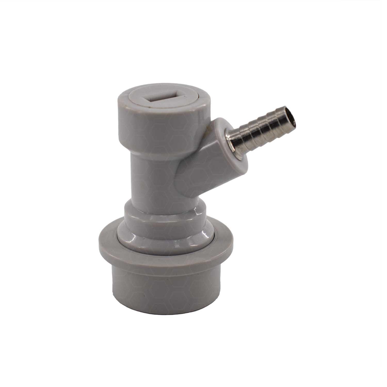 """Conector Ball-Lock para Gás (Branco) - Espigão 1/4"""""""