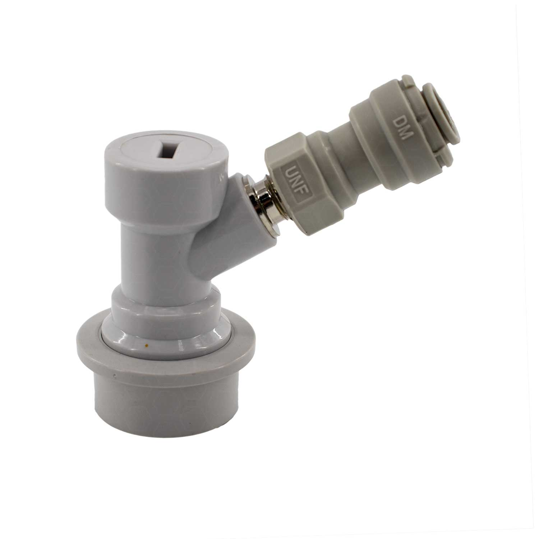 """Conector Ball-Lock para Gás (Branco) - Rosca 7/16"""" + DMFIT"""