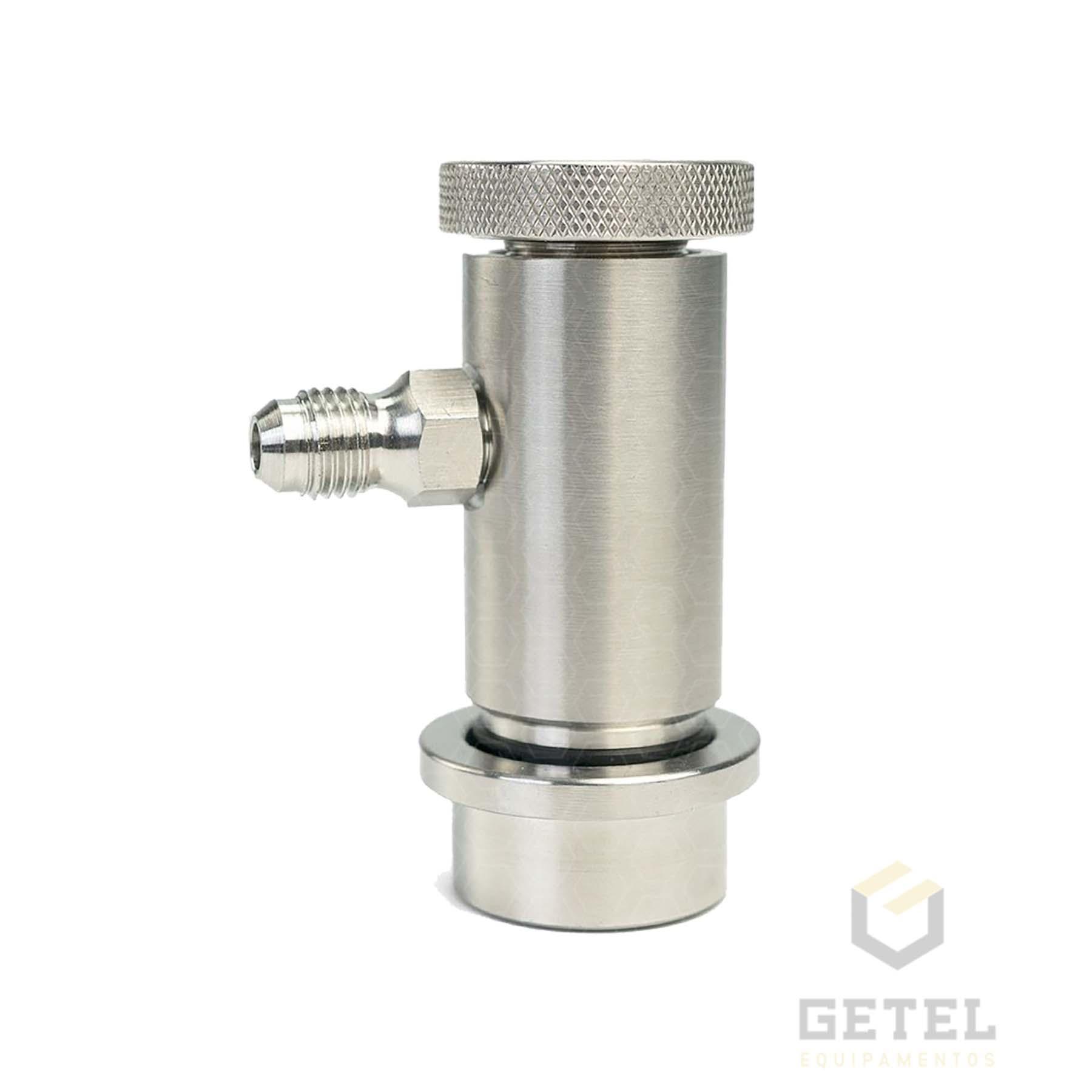 "Conector Ball-Lock para Líquido - Rosca 7/16"" - com Controle de Fluxo"