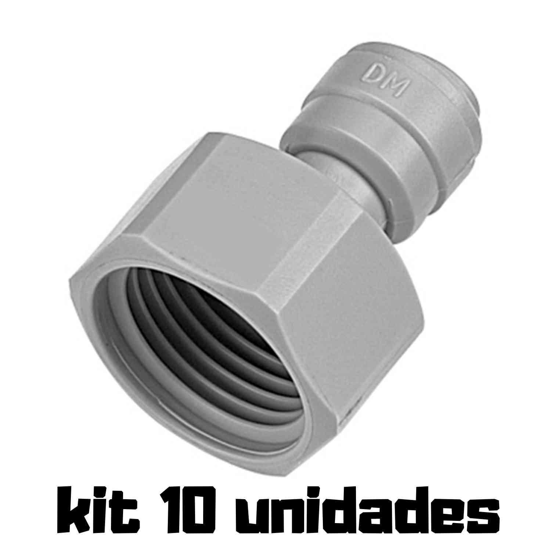 "DMFIT - Rosca Fêmea - (Tubo 3/8"" x Bsp 5/8"") - AFAB 0608F - Pacote 10 Unidades"