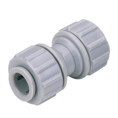 "DMFIT - União - (Reto - Cano Inox 3/8"" x Cano Inox 3/8"") - APBUC 0606 - Pacote 10 Unidades"