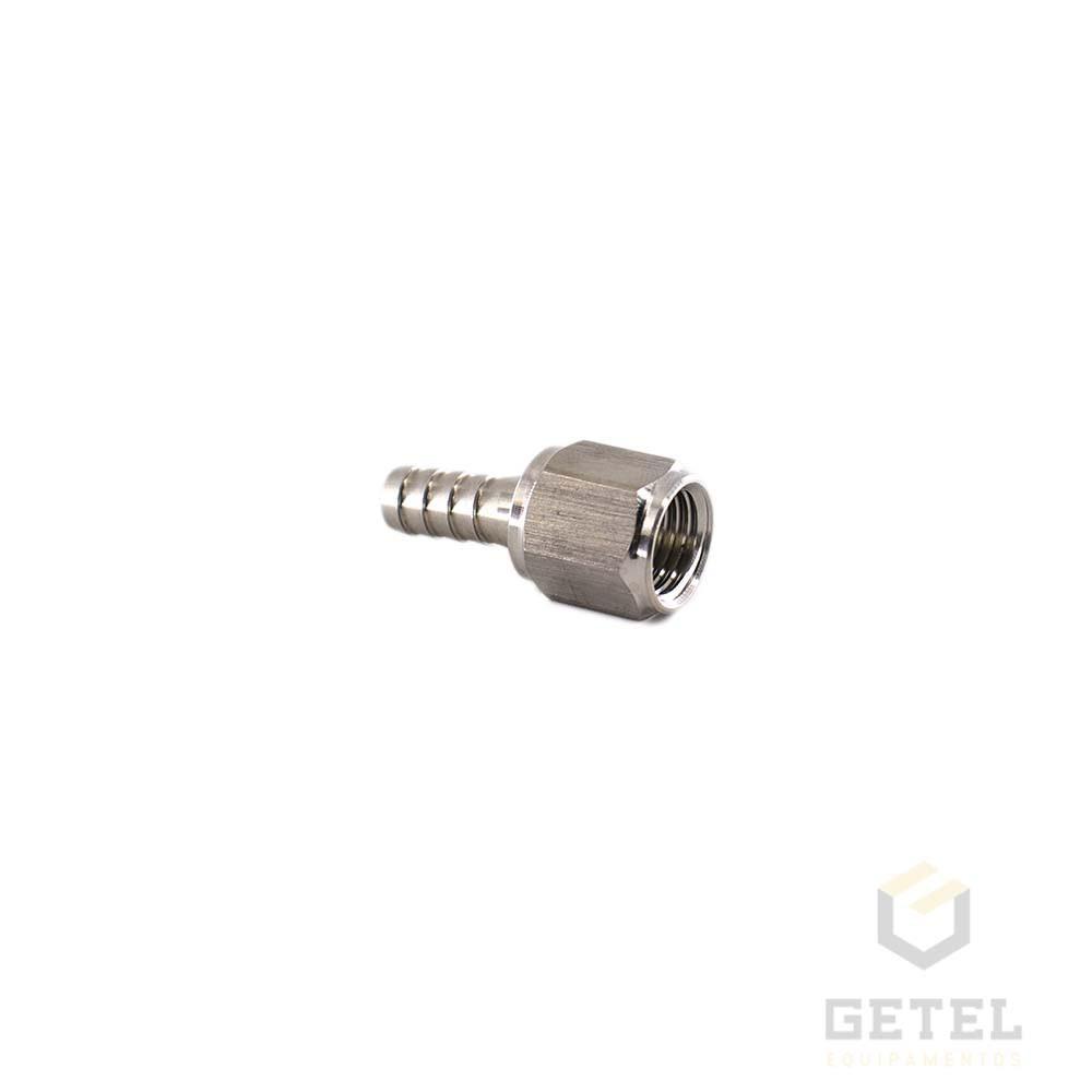 """Espigão 1/4"""" c/ rosca 7/16""""FL para conector Ball-Lock com rosca"""