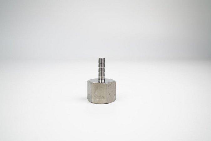 """Espigão 1/4"""" x Rosca Fêmea 1/2"""" BSP - Aço Inox 304"""