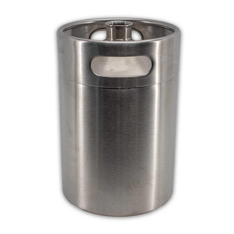Growler (Barril) - Aço Inox - Capacidade 05 L - Sem Tampa