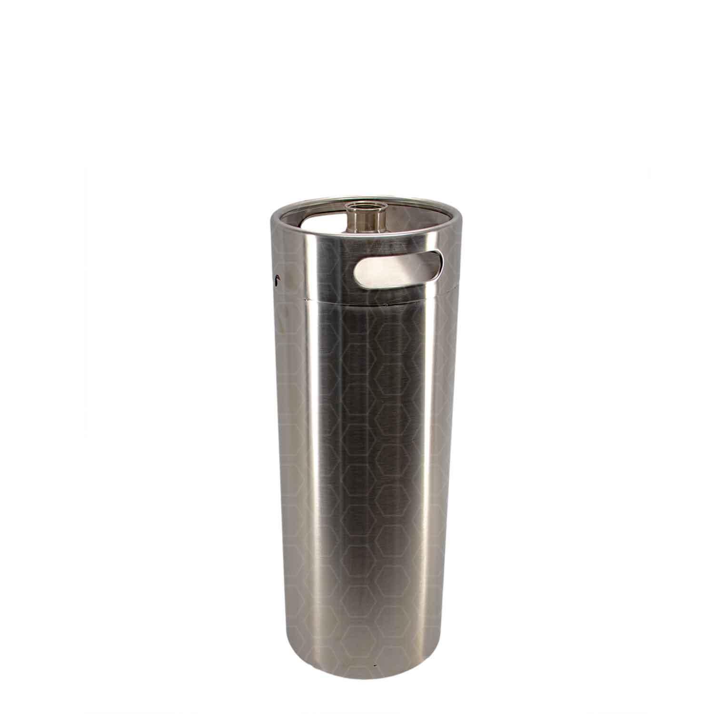 Growler (barril) em inox com capacidade 3,6L, sem tampa