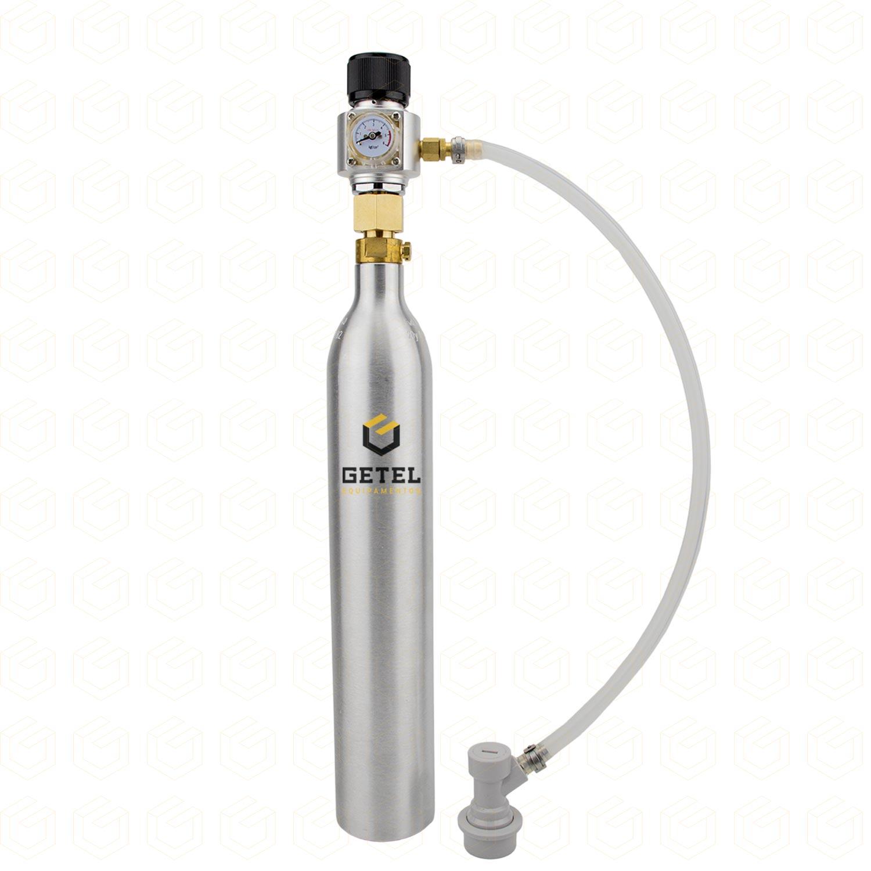 Kit Carbonatação com Cilindro SodaStream + Mini-Reguladora Profissional - Rosca 3/8