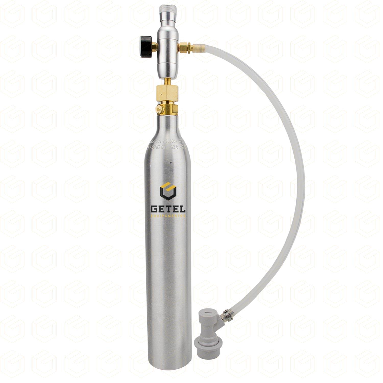 """Kit Carbonatação com Cilindro SodaStream + Mini-Reguladora - Rosca 3/8"""""""