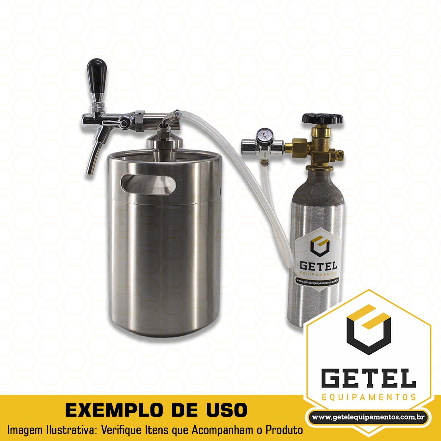 Kit Conversão Mini-Growler para Cilindro 2,3 Kg