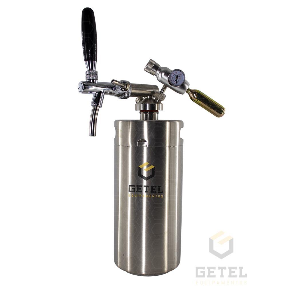 Kit Mini-Keg (Growler) c/ Torneira Italiana - 3,6 Litros