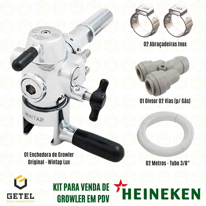 Kit PDV Heineken - Enchedora de Growler + Acessórios