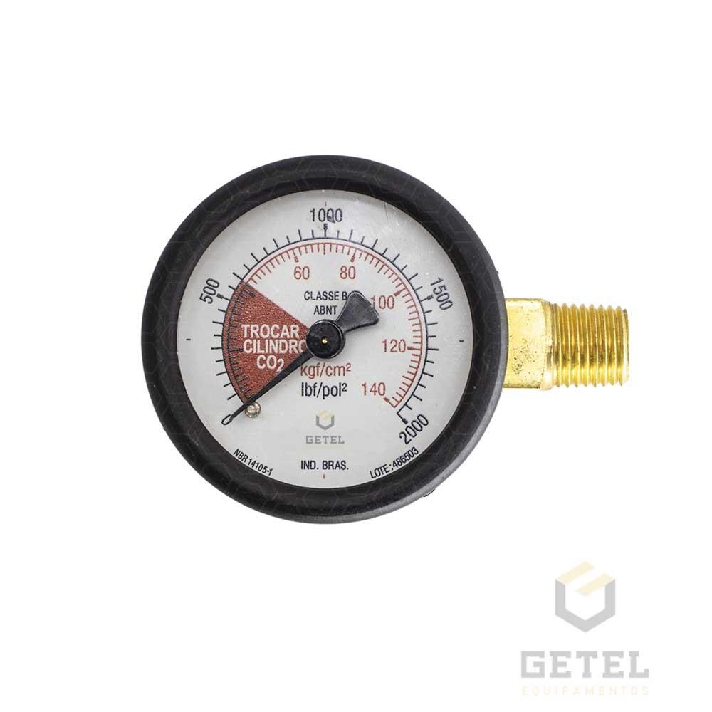 "Manômetro Micromatic 1/4"" Latão - 52mm - 0/11 kgf/cm2"