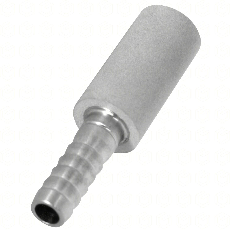 "Pedra Difusora - Espigão 1/4"" x 0,5 Micra - Aço Inox 304"