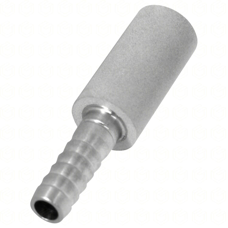"Pedra Difusora - Espigão 1/4"" x 2,0 Micra - Aço Inox 304"