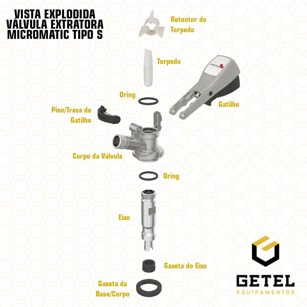 Pino/Trava do Gatilho - Válvula Extratora Micromatic