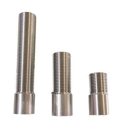 """Prolongador p/ Torneira de Chopp - (1/2"""" x G5/8"""") - INOX - 15 cm"""