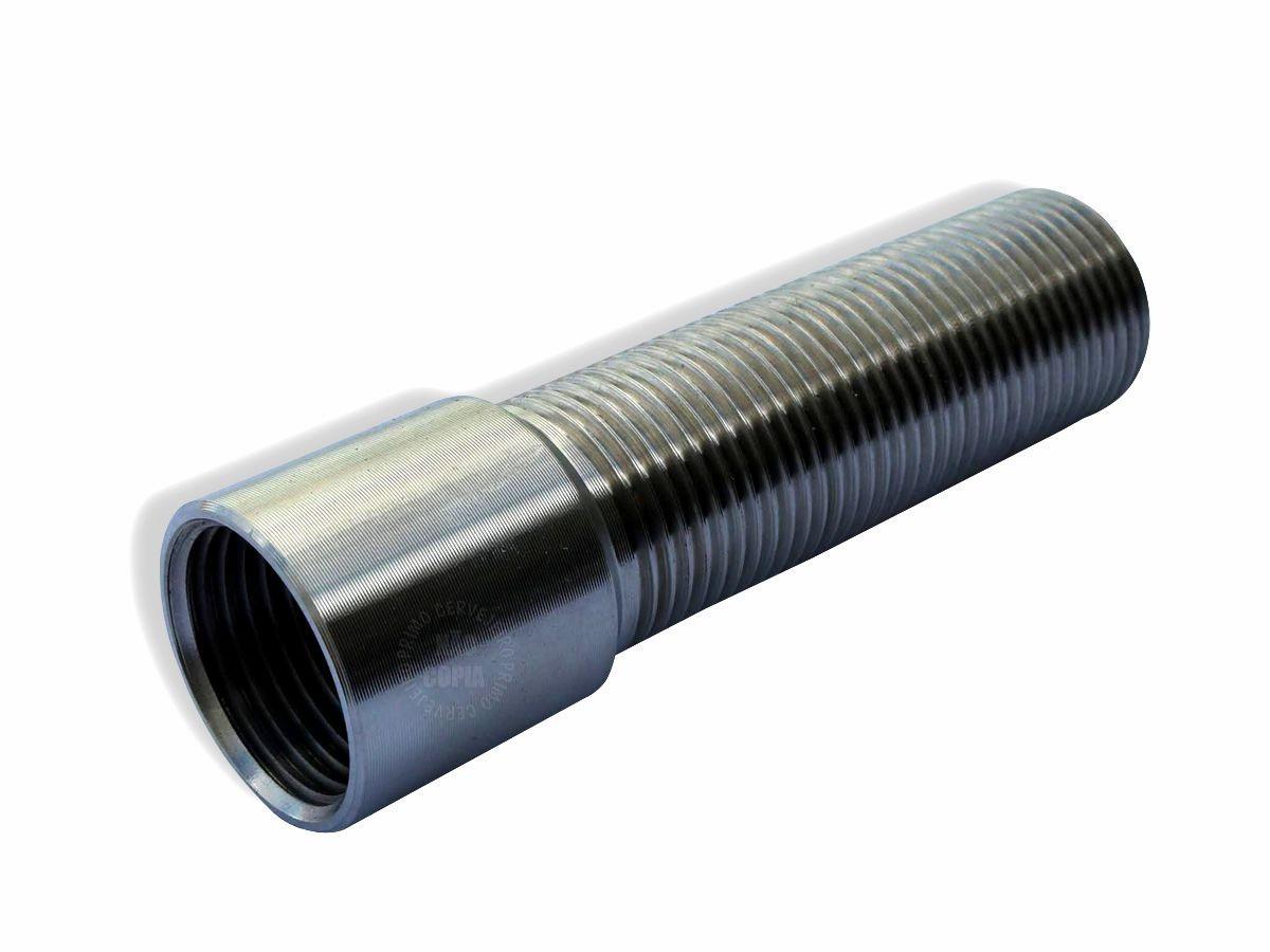 """Prolongador p/ Torneira de Chopp - G5/8""""- INOX - 22 cm"""