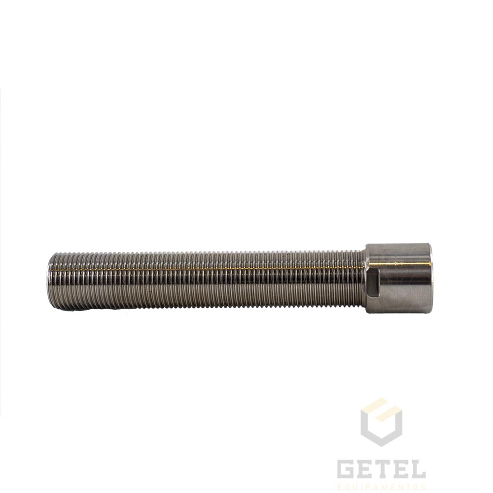 """Prolongador p/ Torneira de Chopp - Rosca G5/8"""" X 15 cm - Sem Flange - Aço Inox"""