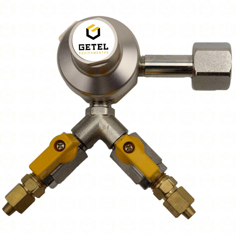 Regulador de Pressão CO2 (HBS - 2 Saídas) - Pré-Calibrado