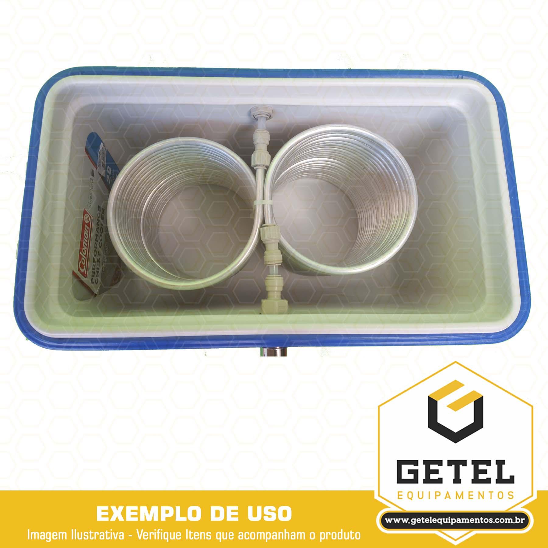 Serpentina 24 Metros + Kit p/ Instalação Chopeira em Caixa Térmica