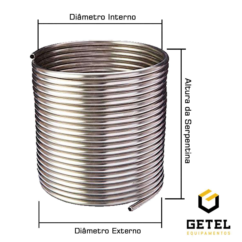 Serpentina Chiller Chopeira - Aluminio 3/8 - Por Metro