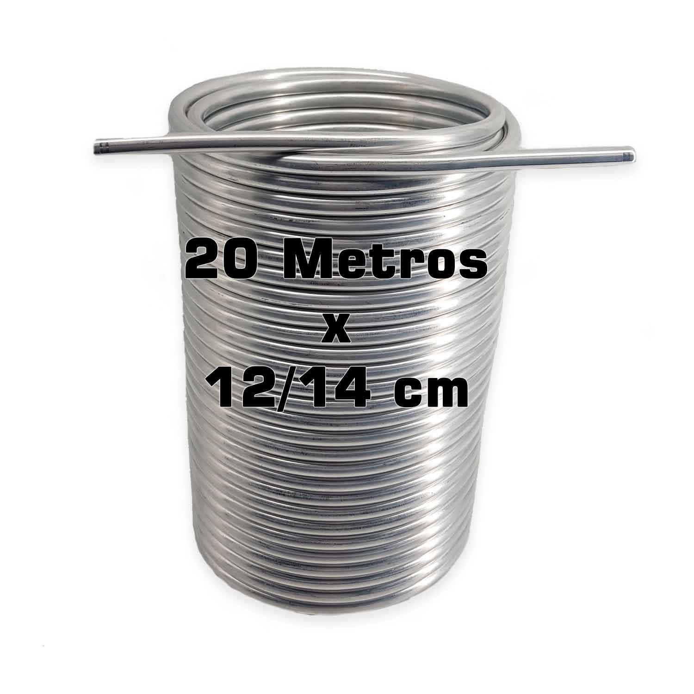 """Serpentina Dupla - Alumínio 3/8"""" - 20 Metros x 12/14 cm"""