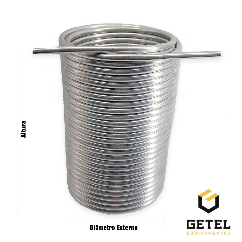 """Serpentina Dupla - Alumínio 3/8"""" - 30 Metros x 17/19 cm"""