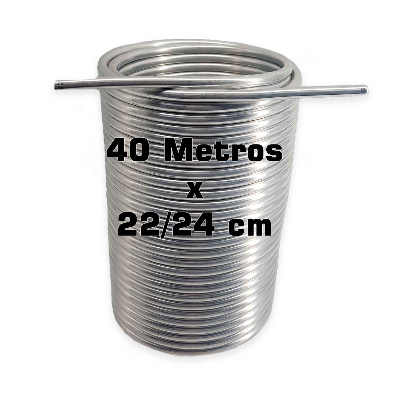 """Serpentina Dupla - Alumínio 3/8"""" - 40 Metros x 22/24 cm"""