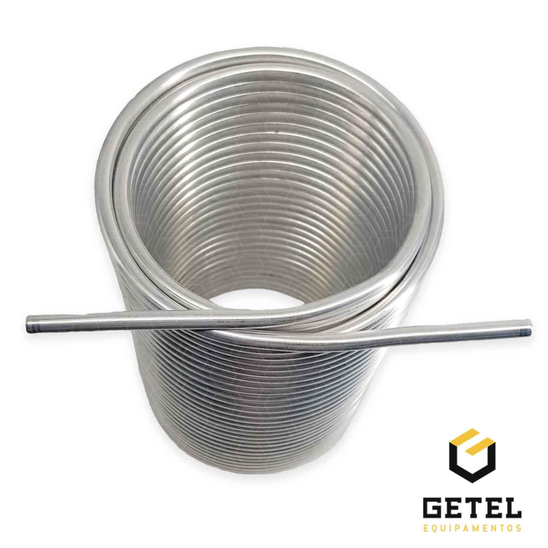 "Serpentina para Chopeira - Alumínio 3/8"" - Espiral Duplo"