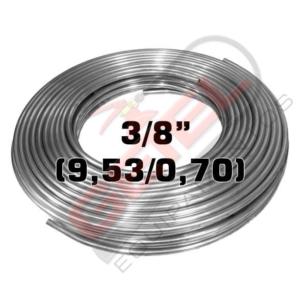 """Tubo Aço Inox 304 - 3/8"""" (9,53 X 0,70) - por metro"""