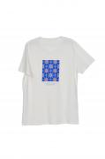 Camiseta Cacimba Aigua Blava - Azulejo - 100% Algodão Orgânico