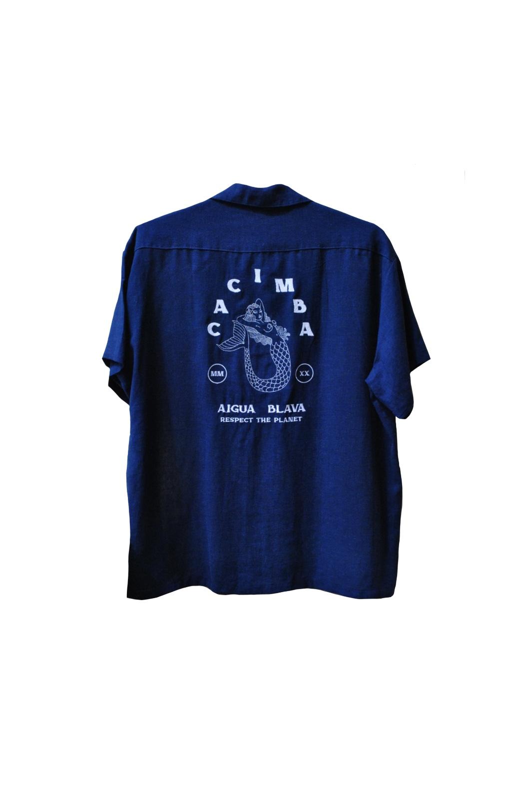 Camisa Cacimba - Sereia Azul - 100% Linho