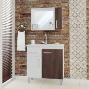 Conjunto Balcão de  Banheiro 80cm Veneto