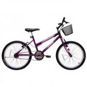Bicicleta Cairu Aro 20 MTB REB Bella Girl 317253 Preto/Rosa