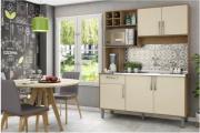 Cozinha Compacta Jaeli Luma Siena / Off White J680 com 5 Portas e 1 Gaveta