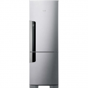 Refrigerador Consul CRE44 Frost Free Inverse 397L Inox